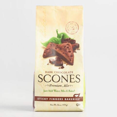 Sticky Fingers Bakeries Dark Chocolate Scones Mix Set of 6 (Chocolate Scone Mix)