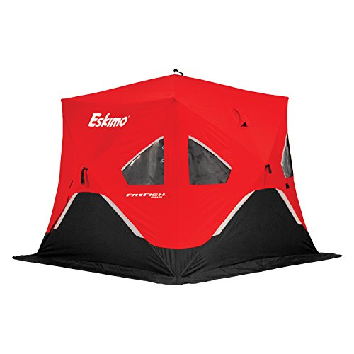 Eskimo FatFish Portable 3-4 Person Pop Up Ice Fishing Shanty Shack Shelter Hut (Ice Fishing Seats)