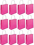 Henbrandt C51 207 Bags With Handles, Hot Neon Pink, Pack of 12