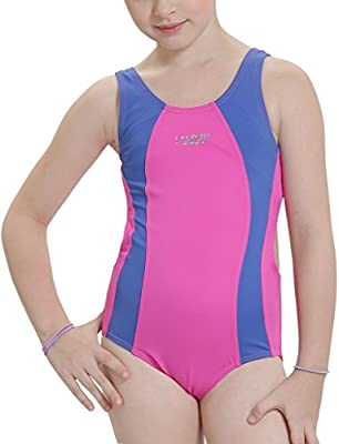 Jxstar Little Girls' Professional Sports Essential Endurance Medalist Rowleeback Swimsuit