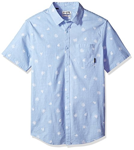 (Billabong Men's Sunday Mini Short Sleeve Shirt, Light Blue, S)