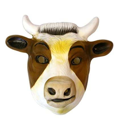 Amazon com: Pams Childrens Farm Animal Masks | Cow Face Mask