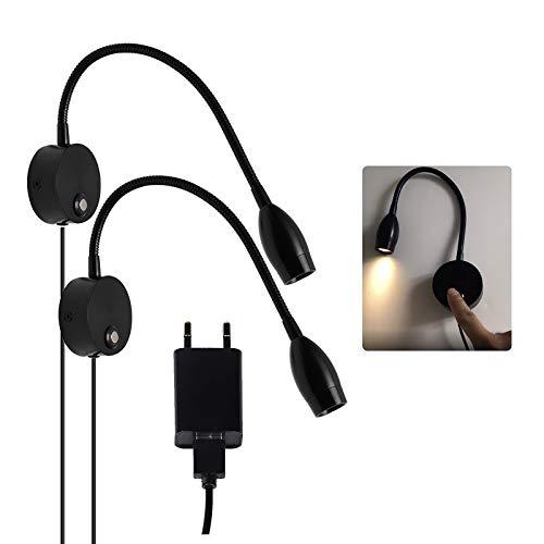 CPROSP 40 cm LED-leeslamp bedlamp zwart