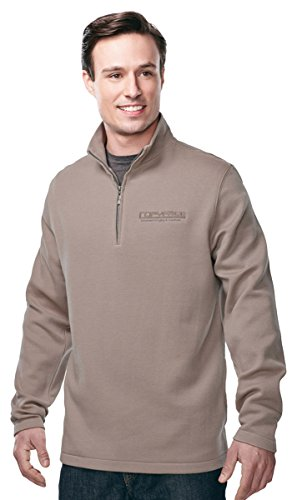 Tri-Mountain Men's Camden Quarter-Zip Pullover Sweatshirt, 3XL, CAMEL ()