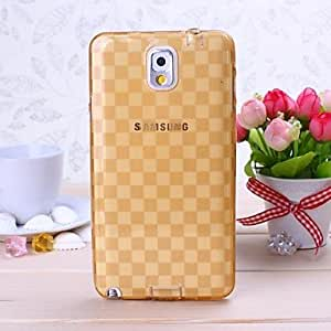 ZL Gold Grid Pattern TPU Soft Case for Samsung Galaxy Note 3 N9000