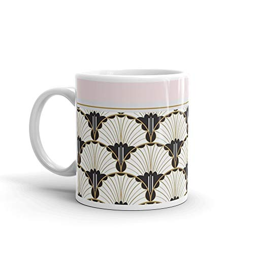 Tender Morning Blush - A Tender Curiosity on blush pink 11 Oz White Ceramic.11 Oz Coffee Mugs With Easy-Grip Handle, Suitable For Hot And Cold Drinks. Can Be Used For Home And Office.
