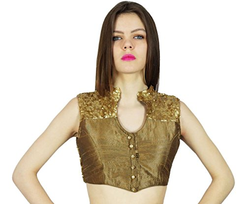 Phagun Dupion Party Wear Designer Ready- Made Blouse Crop Top (Ready Made Designer Saree Blouses compare prices)