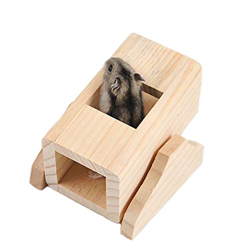 Boredom Breakers Pet Treats - Syrian Hamster Climbing Toys ,Guinea Pig Chew Toys, Sugar Glider Wooden Tunnels, Dwarf Hamsters Seesaw,Cage Hideout Toys for Hedgehog,Rat,Mouse,Chinchilla