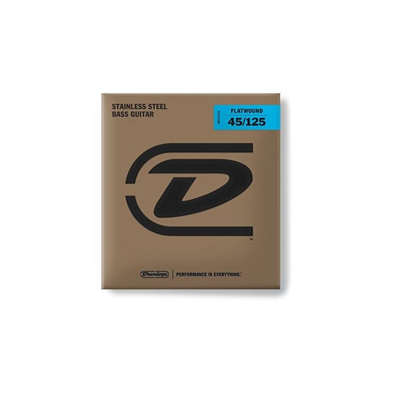 dunlop-dbfs45125-flatwound-bass-strings