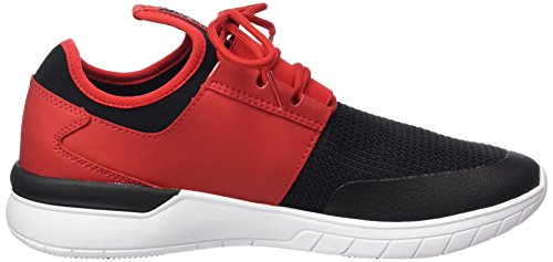Uomo Black Rosso Supra Flow Red Sneaker 604 Run white T74twYg