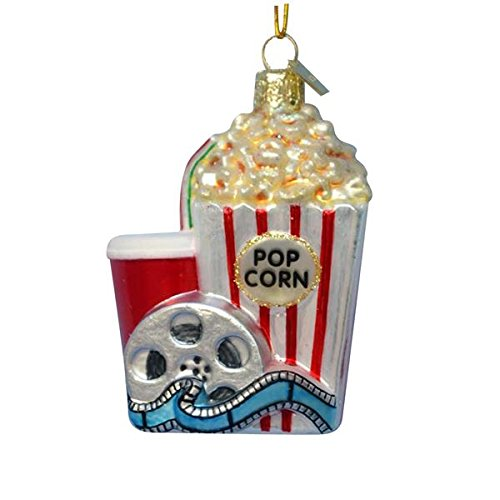 Kurt Adler Noble Gems Popcorn and Movie Ornament