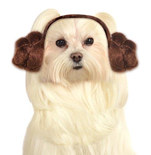 Star Wars Dog Headband Princess Leia Buns, Medium and Large