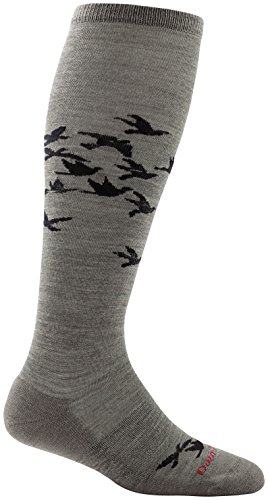 (Darn Tough Birds Knee High Light Cushion Sock - Women's Taupe Large)