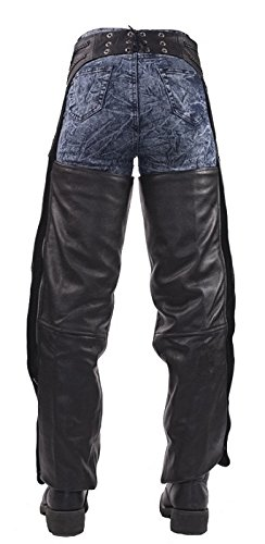 Insulated Braided Leather Motorcycle Chaps Small by Billys Biker Gear (Image #3)