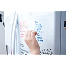 Clear Dry Erase Contact Paper Roll (6.5 ft Extra Large) 3 Dry-Erase Markers & Eraser Cloth Included - Transparent Wall Sticker Vinyl Decal - Self Adhesive Whiteboard Wallpaper by Kassa