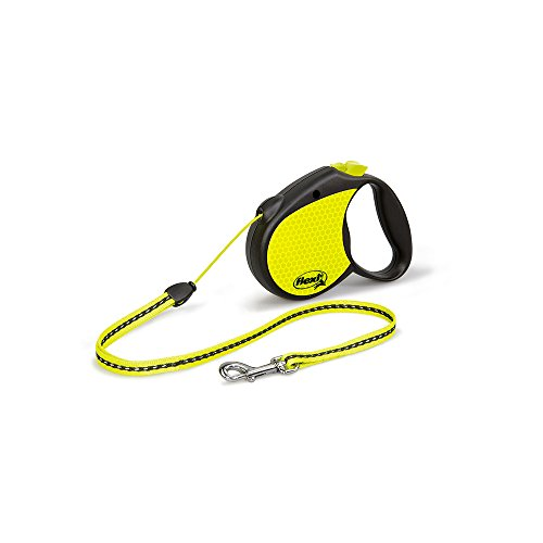 Flexi Usa Inc - Reflective Neon Tape Retractable Leash- Blac