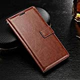 OST (TM) Leather Wallet Magnetic Clip Stand Flip Case Cover For Samsung Galaxy C9-Pro (Brown)