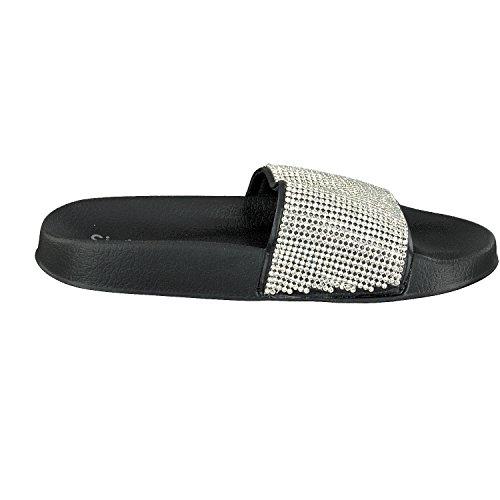 Voûte de Mules Femmes Vicenza Siebi's Noir avec pour Bain Chaussures Plantaire xOESnqwXC