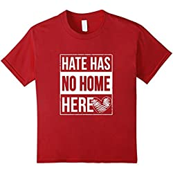Kids Hate Has No Home Here T-Shirt Anti-Hate T-Shirt 4 Cranberry
