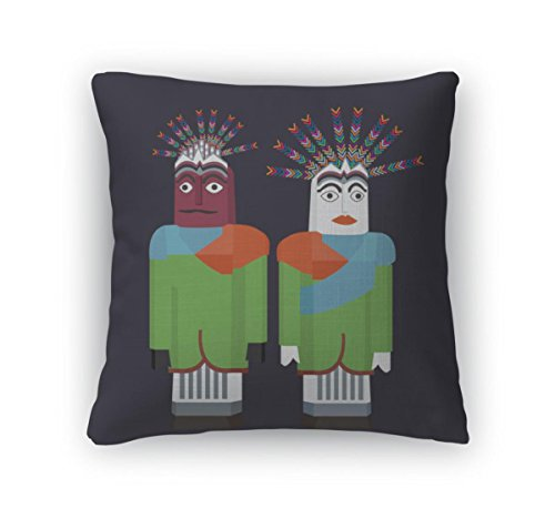 Gear New Throw Pillow Accent Decor, Ondelondel Jakartpuppet Traditional Betawi Celebration Indonesia, 20