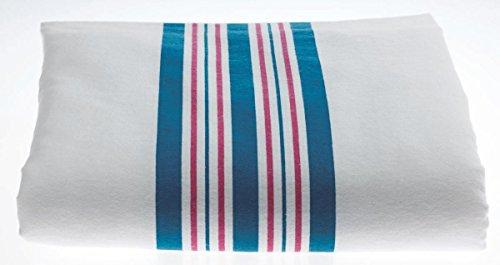 Medline MDTPB3C40STR Kuddle-Up Flannel Baby Blankets, White w/Pink/Blue Border (Case of 72) by Medline (Image #1)