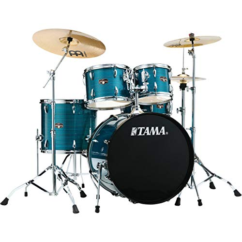 Tama New Imperialstar 22 Inch Bass Drum 5pc Complete Drum Kit (Hairline Blue) w/ Stage Master 40 Series Hardware