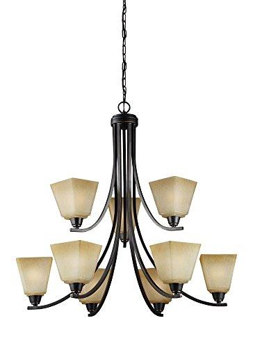 Sea Gull Lighting 3113009EN3-845 Nine Light Chandelier, Flemish Bronze