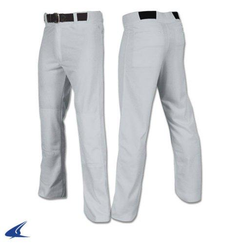 Champro Open Bottom Relaxed Fit Mens Baseball Pant Grey (Professional Baseball Pants)