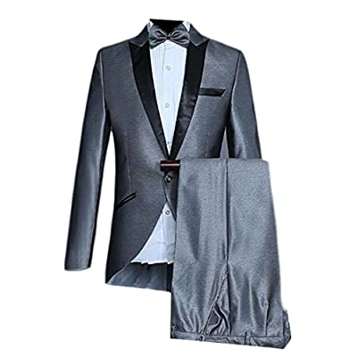 ouxiuli Men Long Sleeve Basic olid Color One Button Suit Blazer + Pant Set free shipping