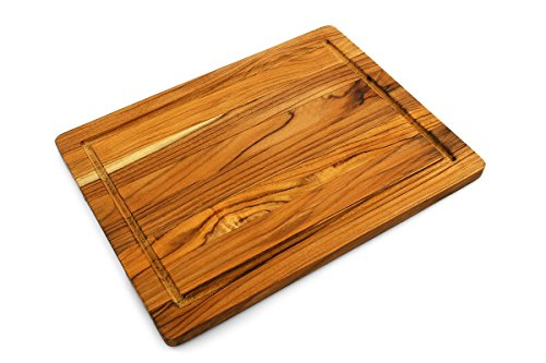 Terra Teak Cutting Board, Premium Eco Friendly Teak - 16 x 12 x 0.75 -