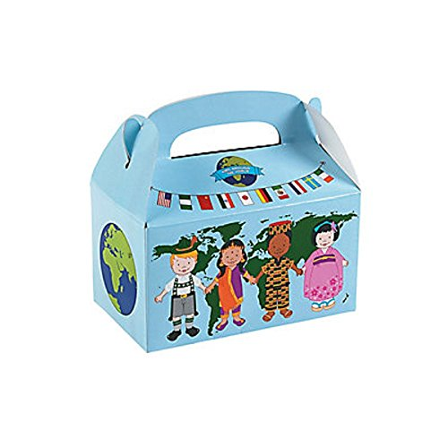 12 ~ Kids Around the World Treat Boxes ~ Approx. 6 1/4