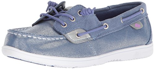 SPERRY Girls' SHORESIDER 3 Eye/Blue Boat Shoe, 3 Medium US Little Kid