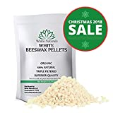 Homemade Face Moisturizer Jojoba - HOLIDAYS SALE! White Beeswax Pellets 1 lb (16 oz), Pure, Natural, Cosmetic Grade, Top Quality Bees Wax Pastilles, Triple Filtered, Great For DIY Lip Balms, Lotions, Candles By White Naturals