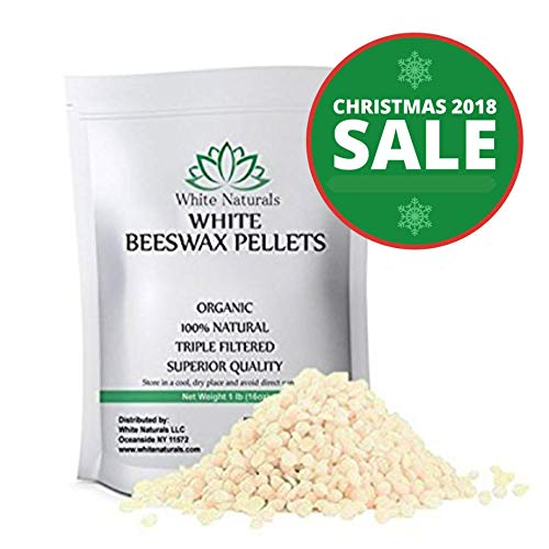 Shea Natural Butter Sunscreen (HOLIDAYS SALE! White Beeswax Pellets 1 lb (16 oz), Pure, Natural, Cosmetic Grade, Top Quality Bees Wax Pastilles, Triple Filtered, Great For DIY Lip Balms, Lotions, Candles By White Naturals)