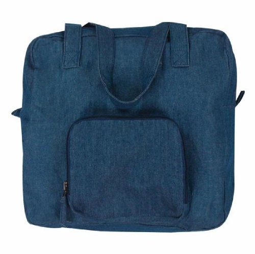 Lightweight Denim Blue Xtra Bag Expandable Reusable Grocery Tote ()