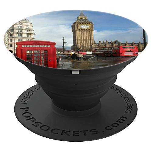 (London England UK Big Ben Clock Great Bell Westminster Gift - PopSockets Grip and Stand for Phones and Tablets)