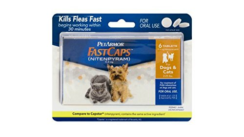 PETARMOR FastCaps (Nitenpyram) Oral Flea Tablets for Small Dogs and Cats (2 to 25 Pounds), 6 Tablets by PETARMOR
