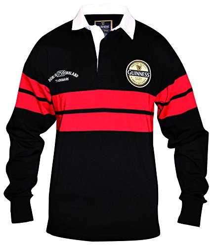 Guinness Black and Red Label Rugby Jersey (X-Large)