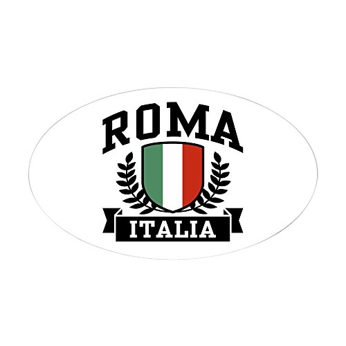 - CafePress Roma Italia Oval Bumper Sticker, Euro Oval Car Decal