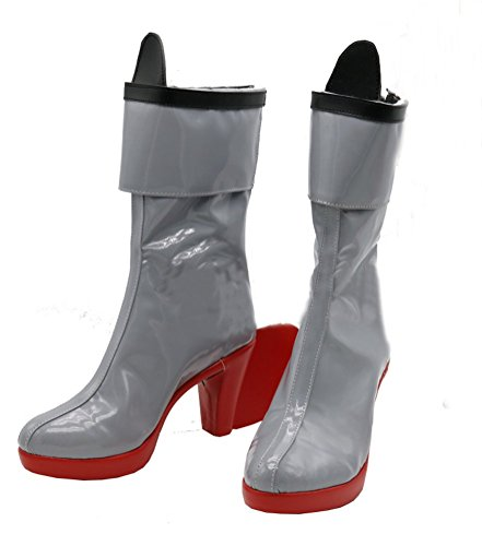 Xiao Maomi Shimakaze Womens Cosplay Boots Grey Shoes For Halloween Daily (Female US 8.5, Grey)