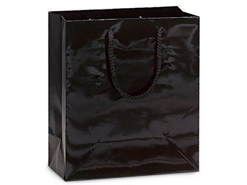 BLACK GLOSS Gift Bags CUBMINI-PK 8x4x10'' 5 unit, 10 pack per unit.