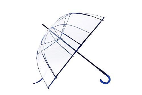 Ideas For European Costumes - FiveMax 50 Inch Clear Bubble Umbrella (Blue)