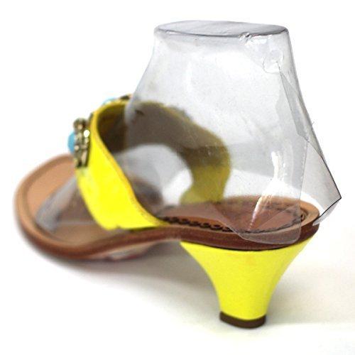 Juicy Couture para dedo del pie-Post jarra de y pedrería para mujer, estándar del Reino Unido 3 RRP £84 Amarillo - amarillo
