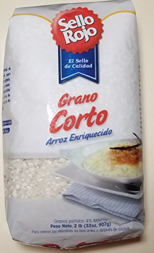 Arroz Sello Rojo Grano Corto (Spanish Short Grain Rice) 32 oz Bag