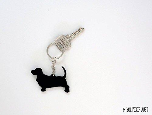 Basset Hound - Keychain Silhouette