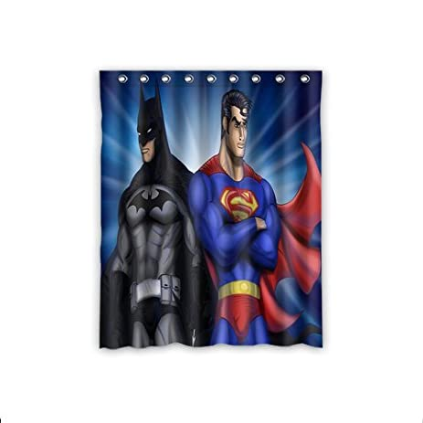 High Quality ScottShop Fashion Custom Superman Batman Window Curtain Thermal Insulated  Blackout Window Curtains Drapery/Panels/