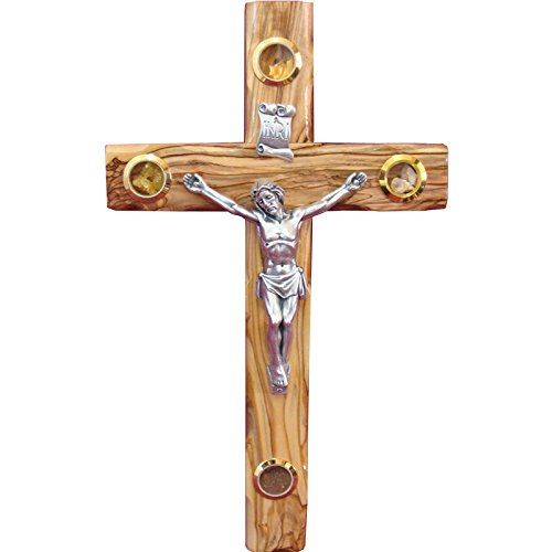 Zuluf 30cm Large Catholic Olive Wood Wall Cross With Crucifix Religious - CRS041 (Olive Wood Wall Cross)