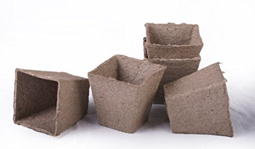 (30 NEW Square Jiffy Peat Pots Size 2.25x2.25 ~ Pots Are 2.25 Inch Square At the Top and 2.25 Inch Deep.)