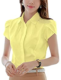 Amazon.com: Yellows - Blouses & Button-Down Shirts / Tops & Tees ...