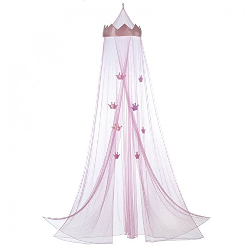 Accent Plus Mesh Girls, Mosquito Pink Princess Bed Canopy